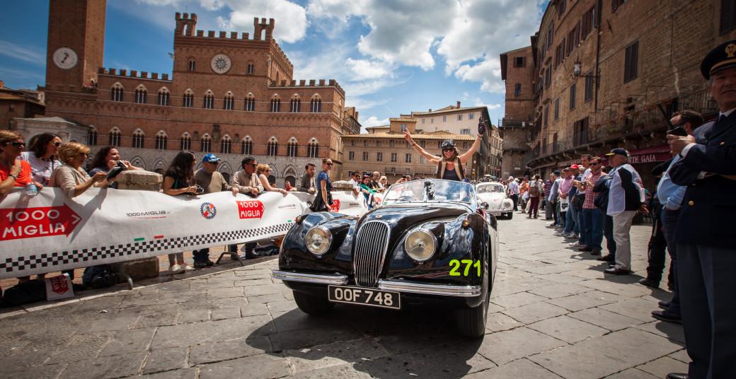 Jaguar at the Mille Miglia