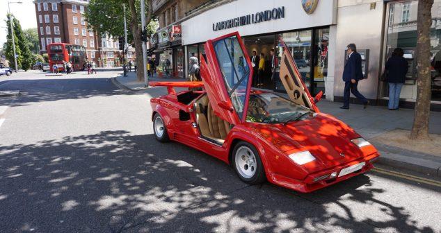 Heroic Lamborghini Countach Arrives at Lamborghini London