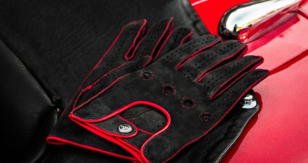 The Powerslide by The Outlierman: Handmade Suede Driving Gloves
